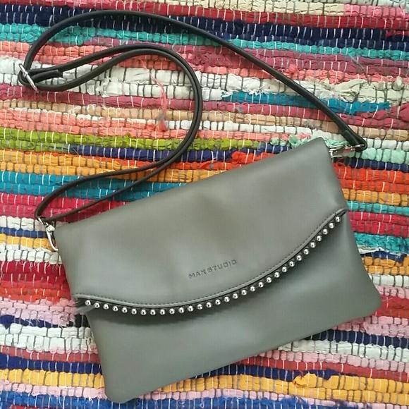 Max Studio Handbags - Max Studio folded soft leather studded bag NWOT